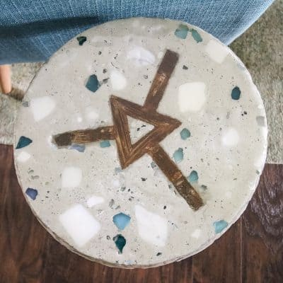 DIY Terrazzo Side Table