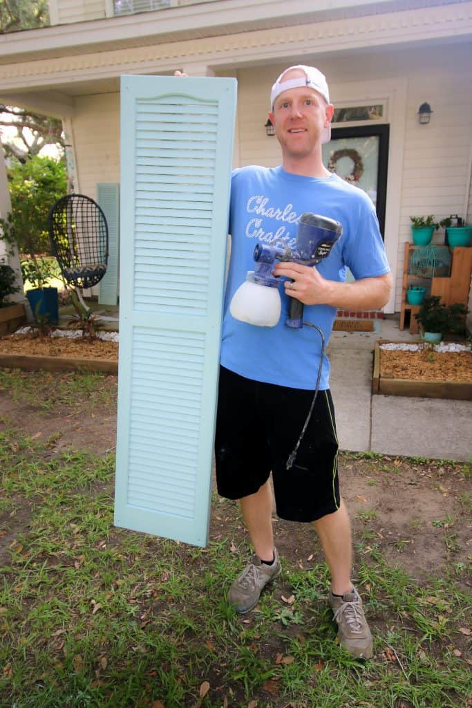 Easiest Way to Paint Shutters - Charleston Crafted
