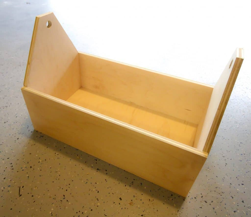 Attach side pieces to base of toolbox