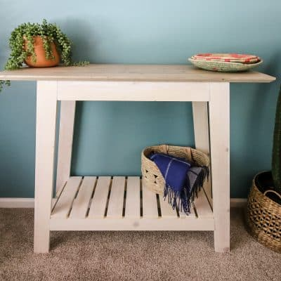 How to Build an Easy DIY Coastal Console Table
