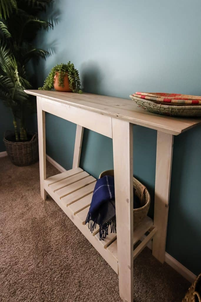 Tall picture of DIY coastal console table