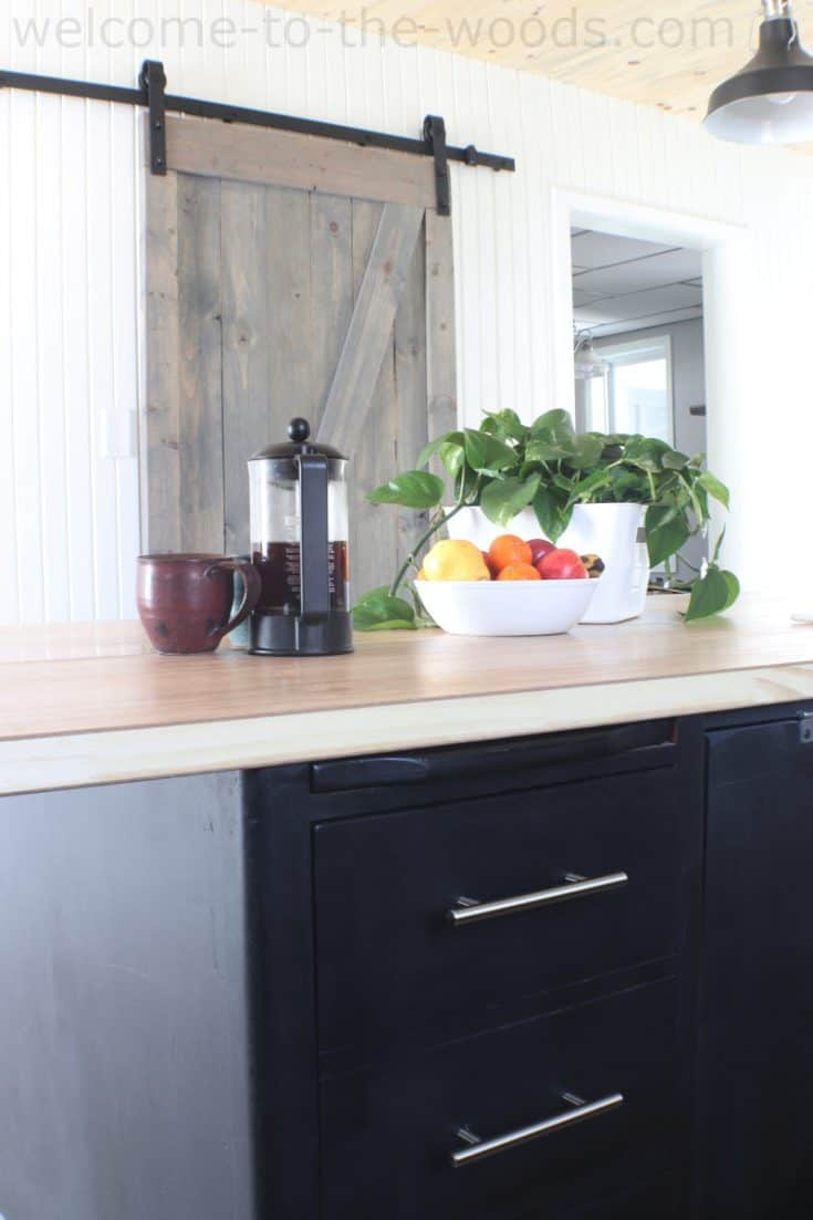 DIY Kitchen Island From A Lawyer's Desk