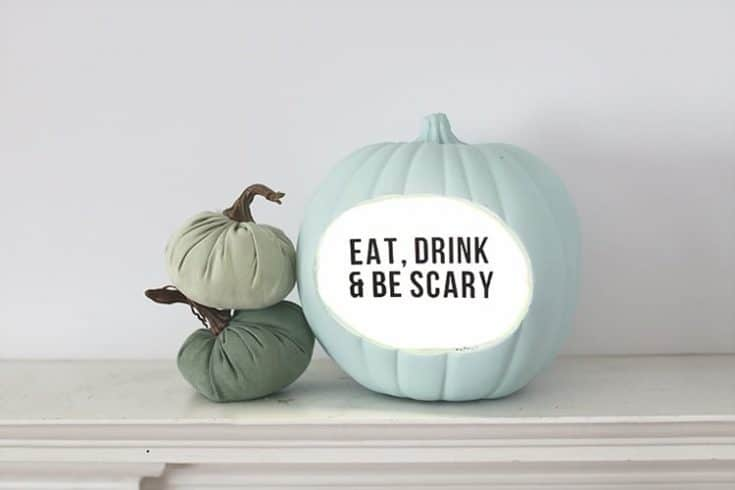 Lightbox DIY Quote Pumpkin for Halloween