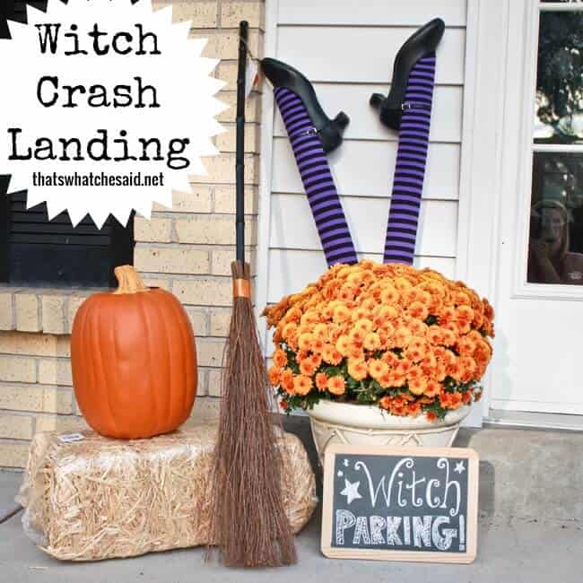 Witch Parking Porch Display
