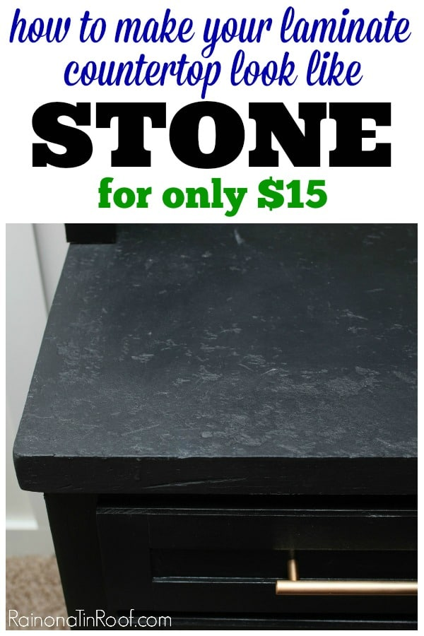 How to make Laminate Countertops look like Stone for only $15