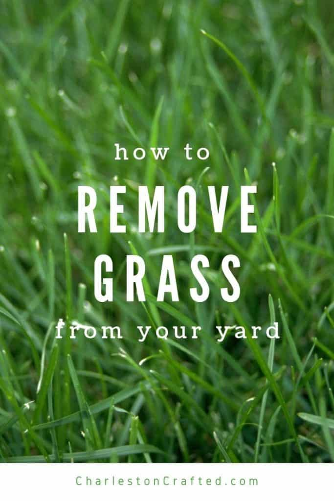 how to remove grass from your yard