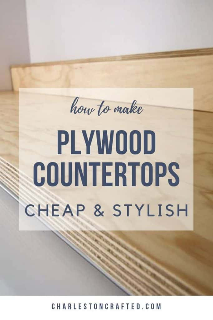how to make cheap and stylish plywood counter tops