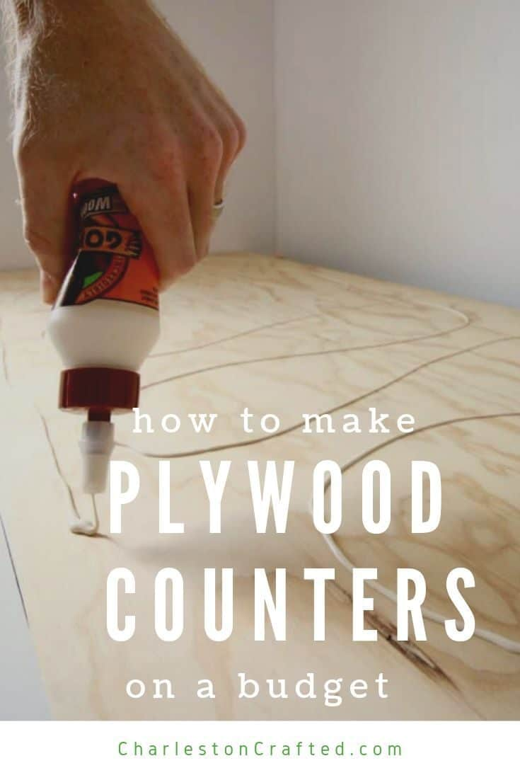 how to make plywood counters