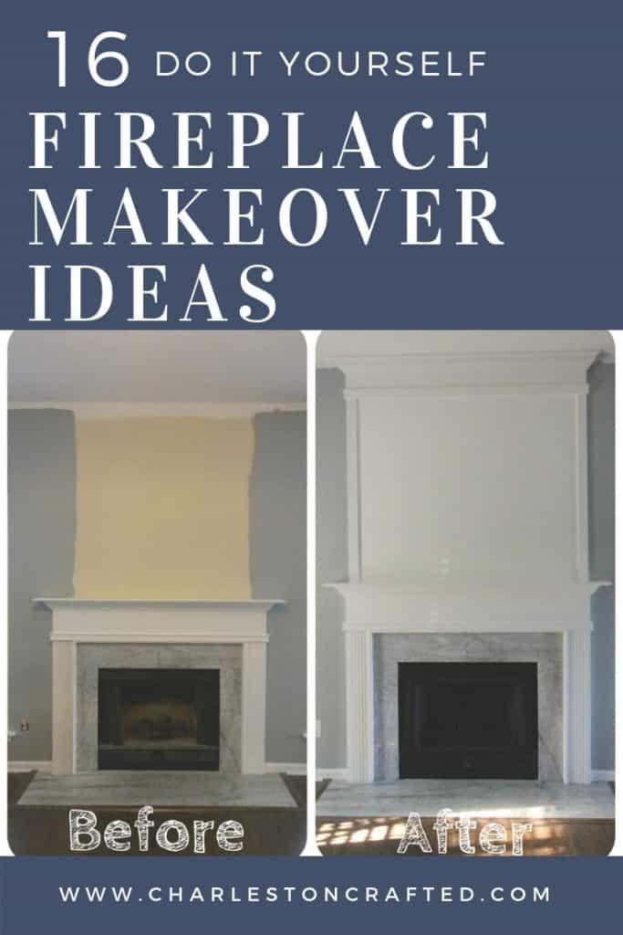 16 DIY fireplace makeover ideas