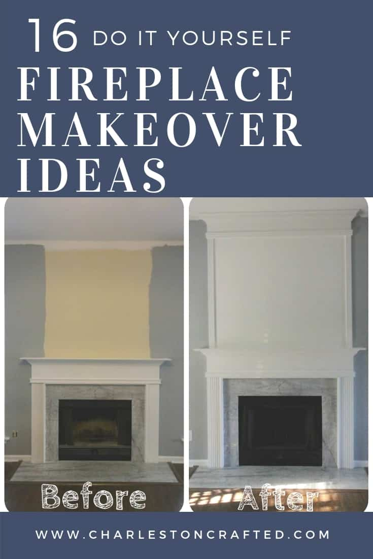 16 DIY fireplace makeover ideas