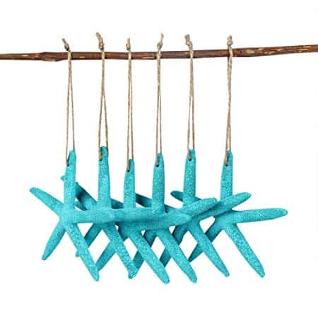 Blue Artificial Resin Starfish with Rope
