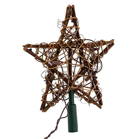 10 Light Indoor Rattan Natural Star Treetop