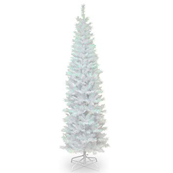 National Tree 6 Foot White Iridescent Tinsel Tree with Metal Stand (TT33-713-60)