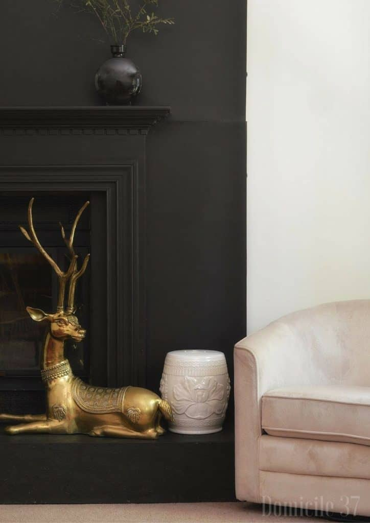 Why I Painted My Fireplace Facade Black