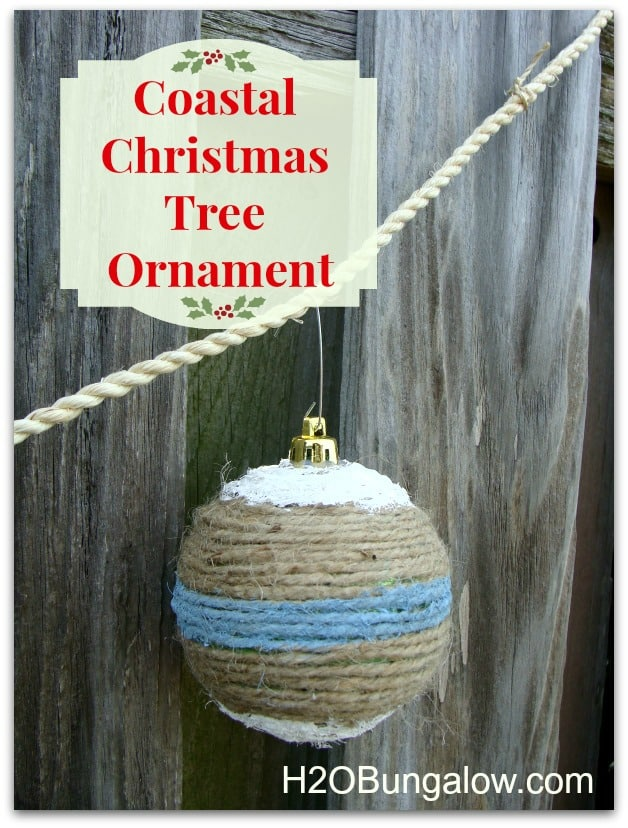 Coastal Christmas tree ornament
