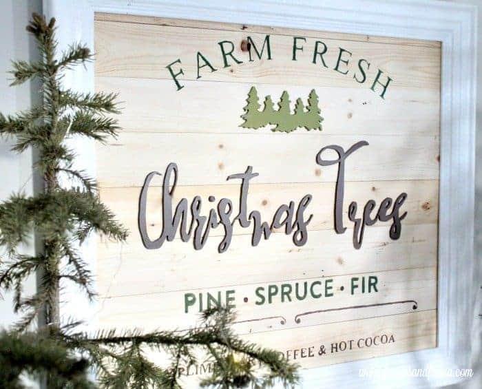 How to Make a Christmas Tree Farm Sign