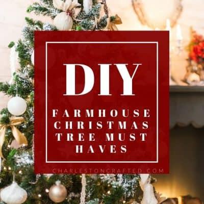 24+ Farmhouse Christmas Tree Decor Ideas