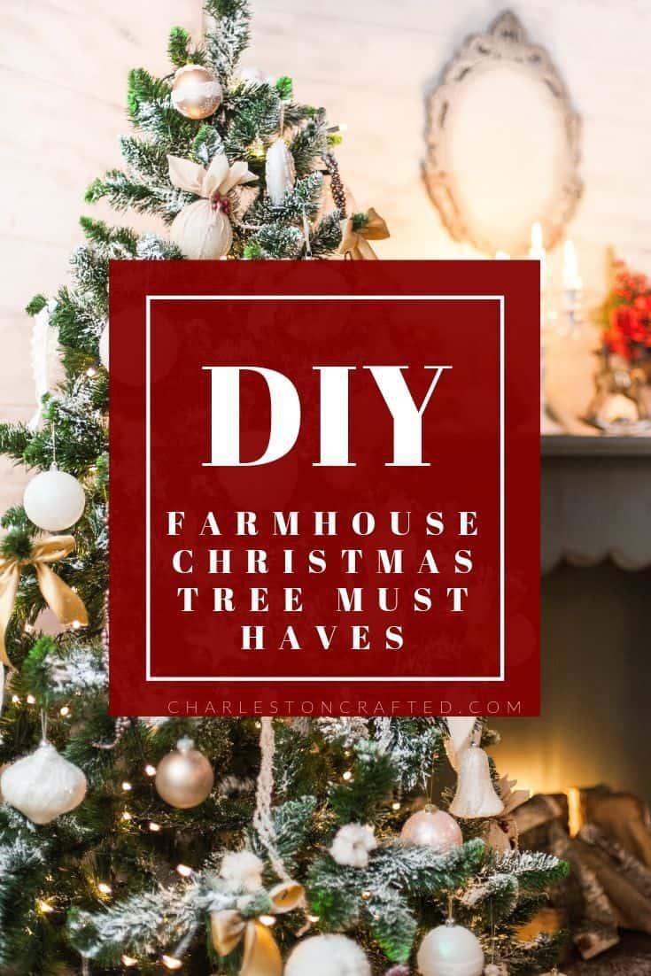 24 Farmhouse Christmas Tree Decor Ideas
