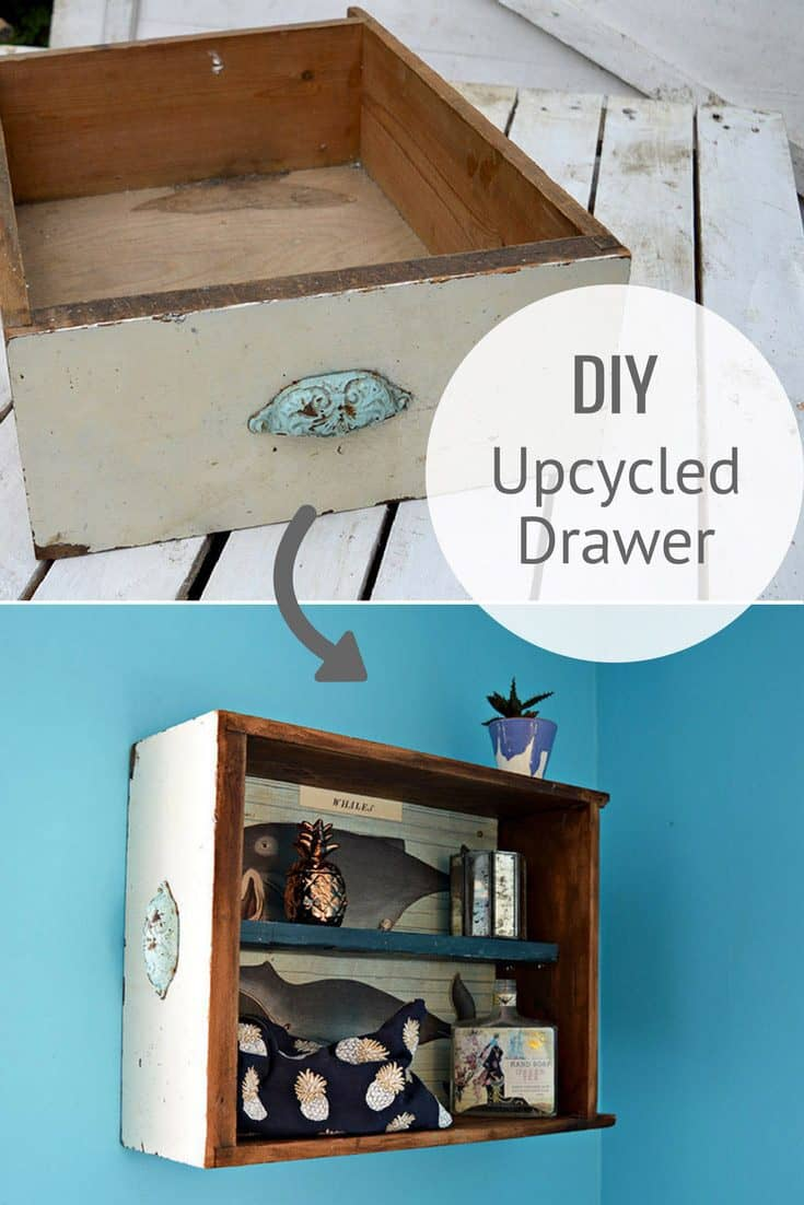How To Make Unique Wall Unit From Upcycled Drawers