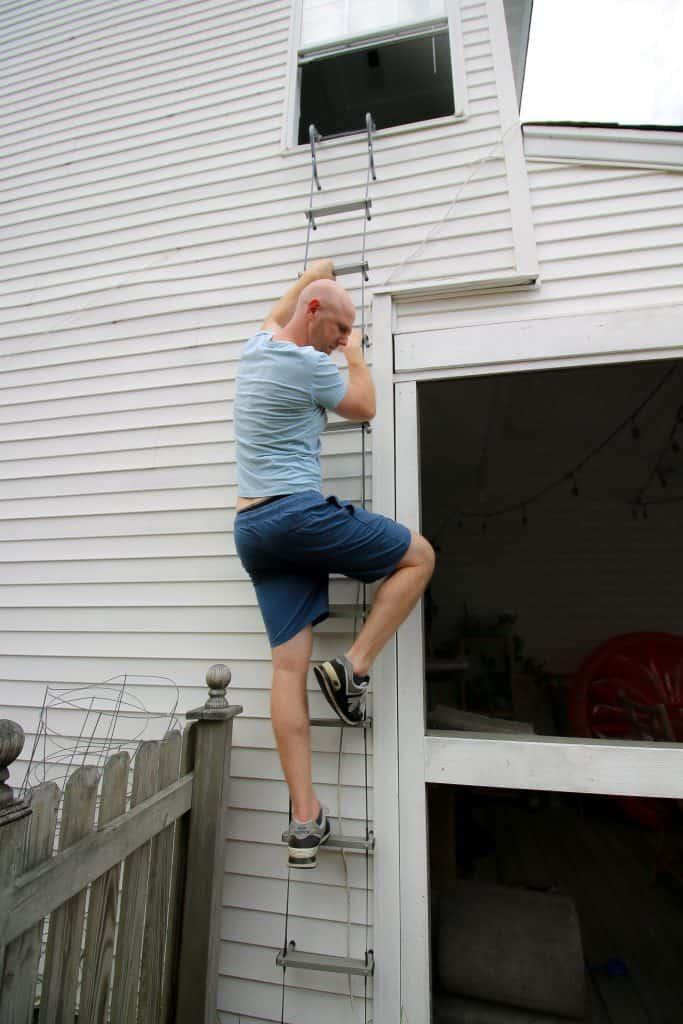 using a first alert fire escape ladder