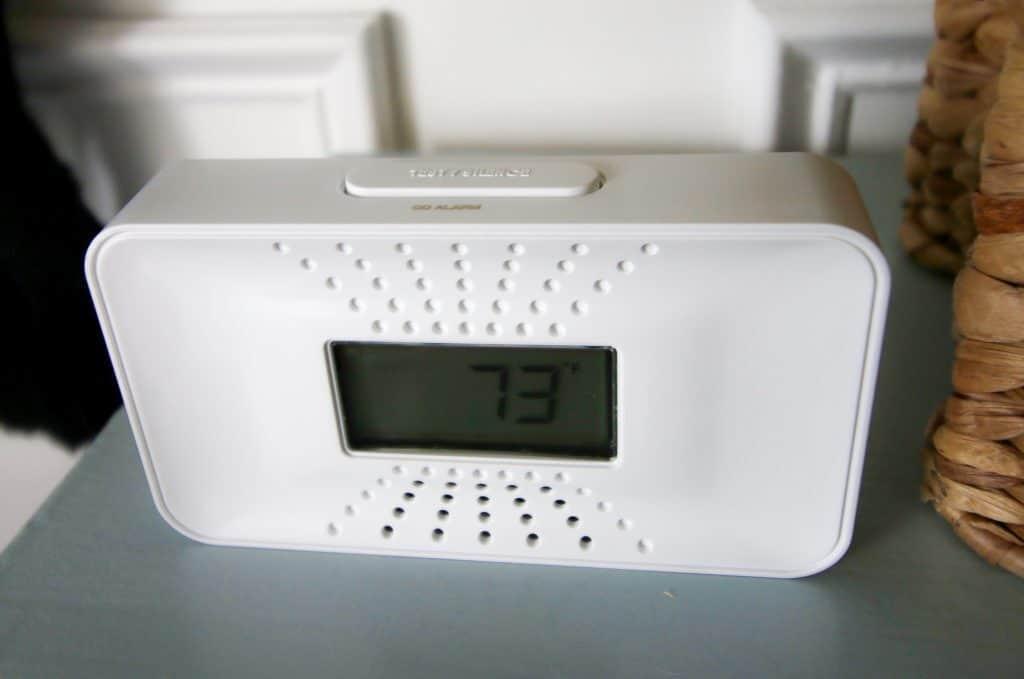 carbon monoxide alarm in the nursery