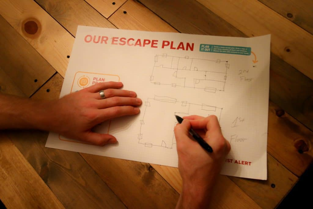 draw an emergency escape plan for your home