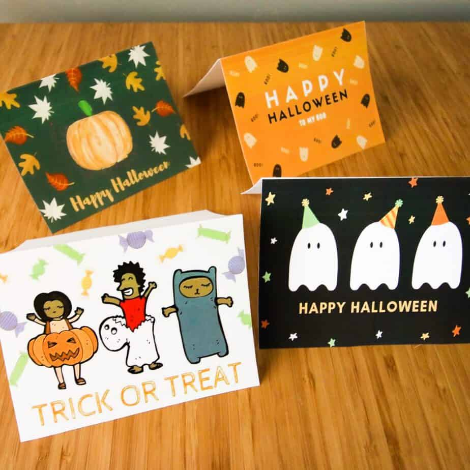 FREE Printable Halloween Greeting Cards