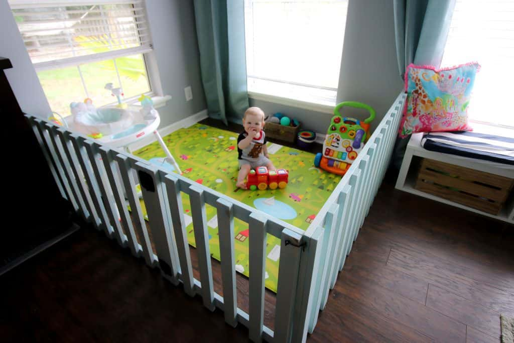 DIY Wood Baby Playpen