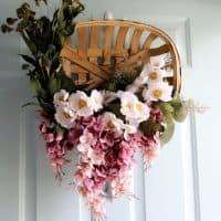 How to make a tobacco basket wreath