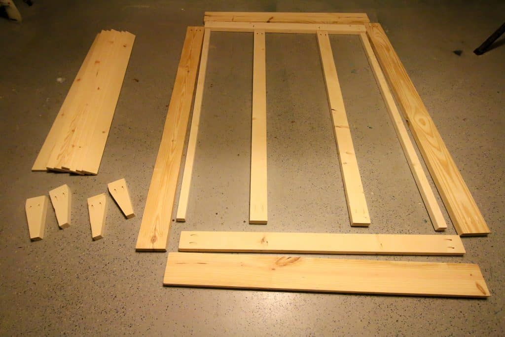 Cuts needed for DIY platform bed