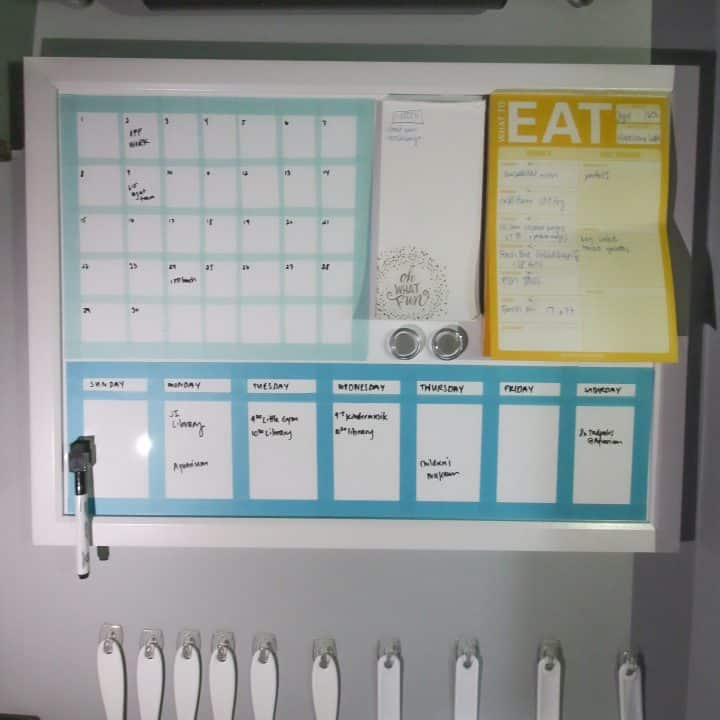 How to make any dry erase board into a calendar