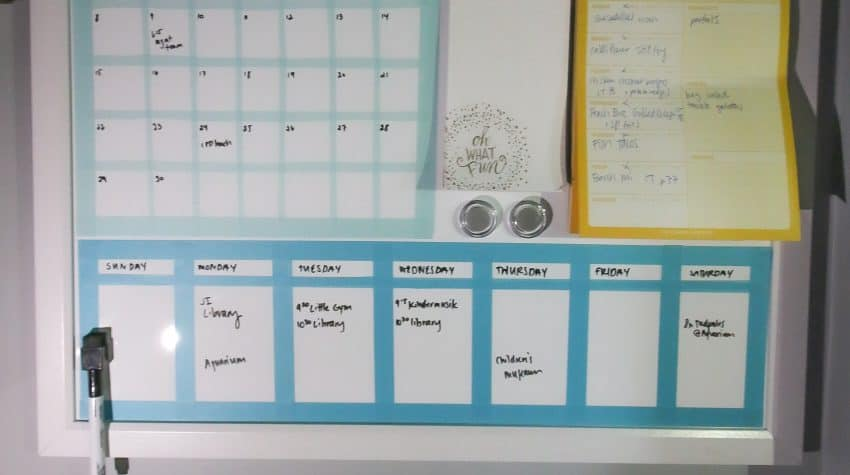 How to DIY any Dry Erase Board into a Calendar