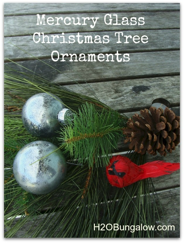 DIY Mercury Glass Christmas Tree Ornament