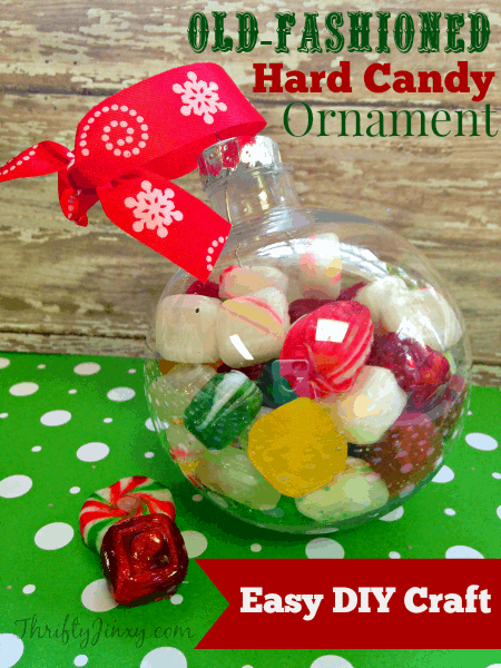 Old-Fashioned Hard Candy Holiday Ornament - Easy DIY Craft Project