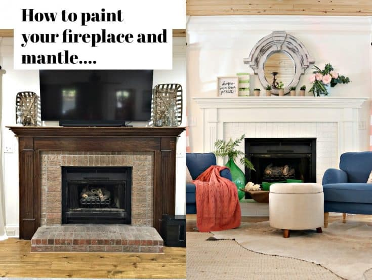 Got Ugly Brick? How to Paint Fireplace Mantel