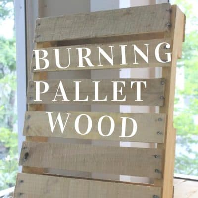 Can pallets be used for firewood?