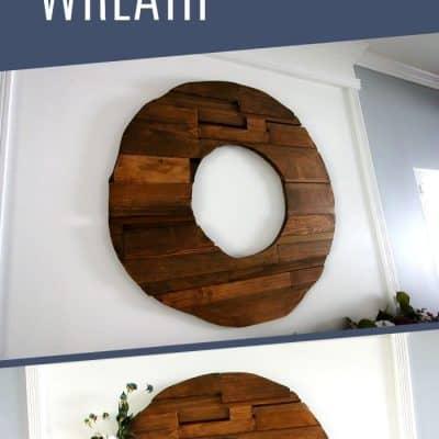How to make a scrap wood wreath