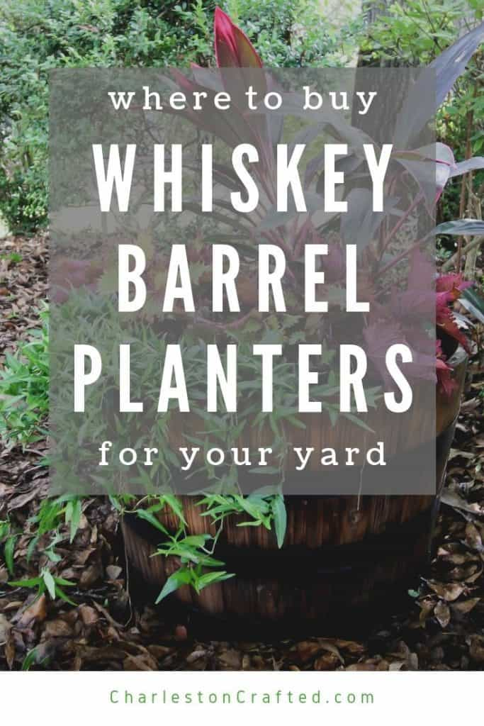where to buy a whiskey barrel planter