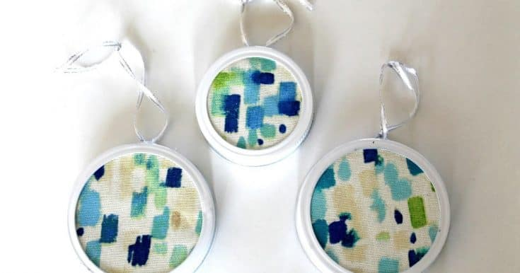 How to make Abstract Fabric Christmas Ornaments