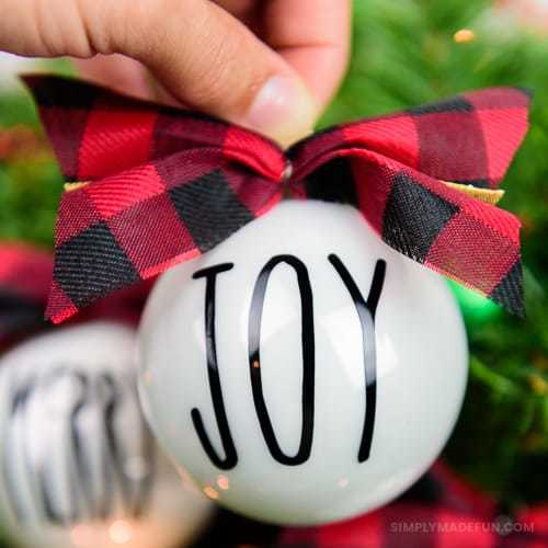 Rae Dunn Inspired Christmas Ornaments