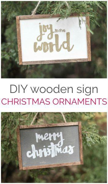 How to make cute farmhouse Christmas ornaments