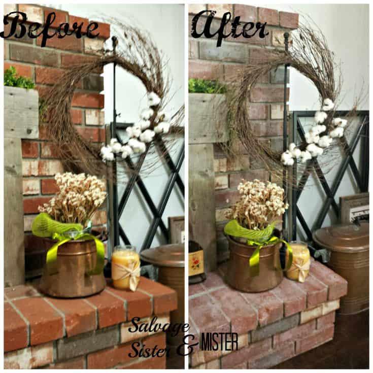 Whitewash Fireplace DIY