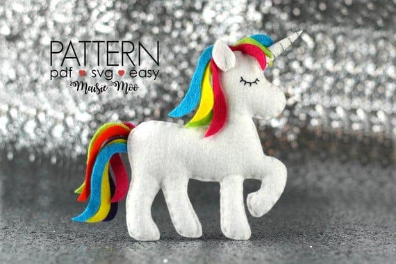 Felt Unicorn Pattern | Unicorn Ornament | Sew Your Own Unicorn