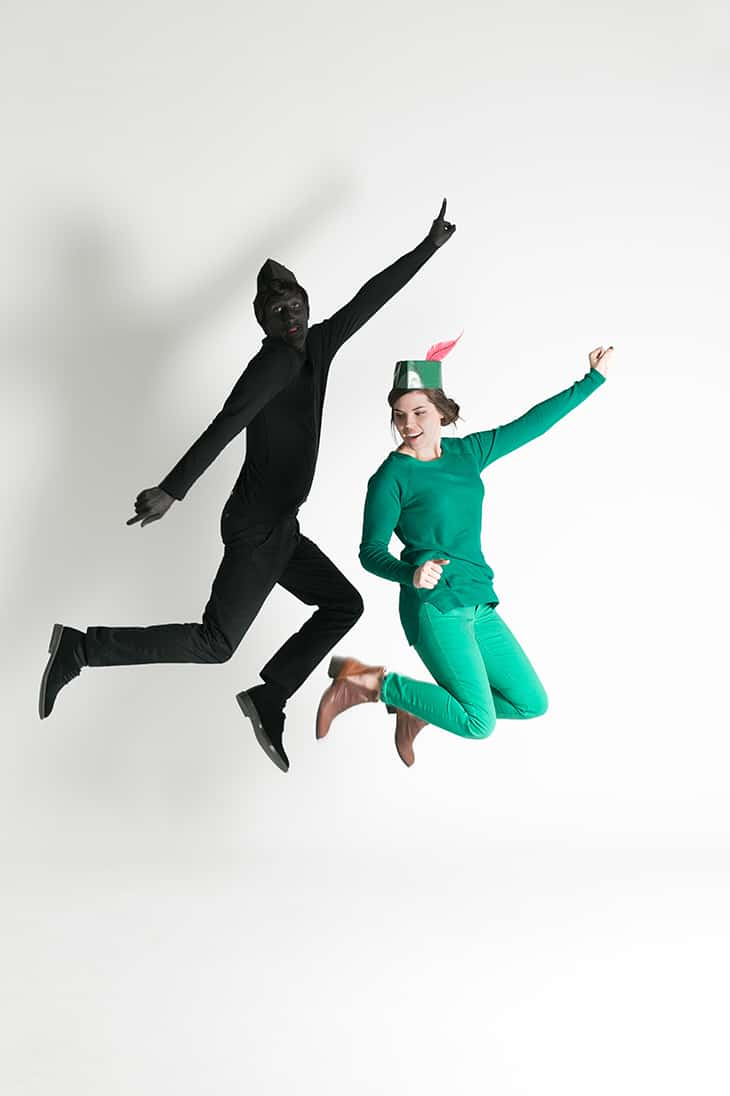 Last minute couples costumes with Peter Pan and Shadow