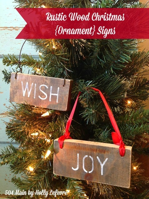 Rustic Wood Christmas {Ornament} Signs