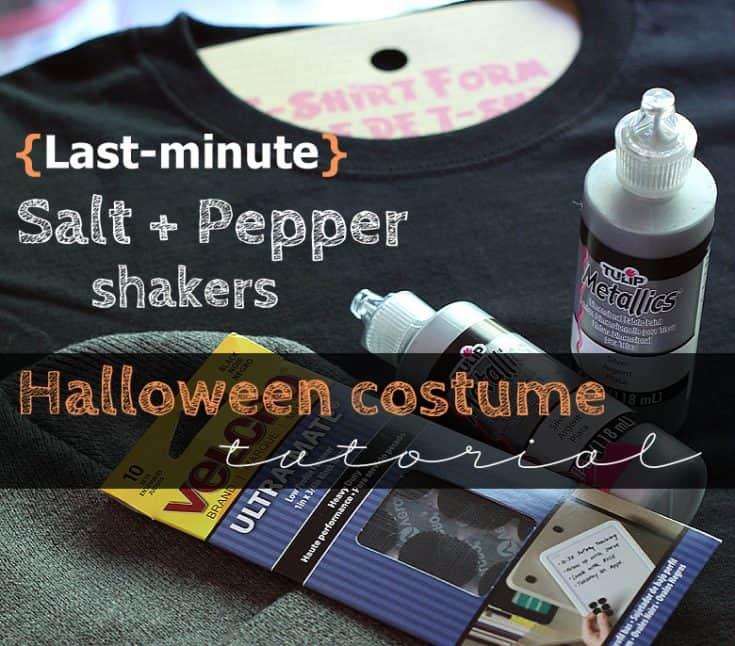 DIY Salt + Pepper Shaker Couples Costume
