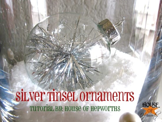 Silver Tinsel Ornaments - House of Hepworths