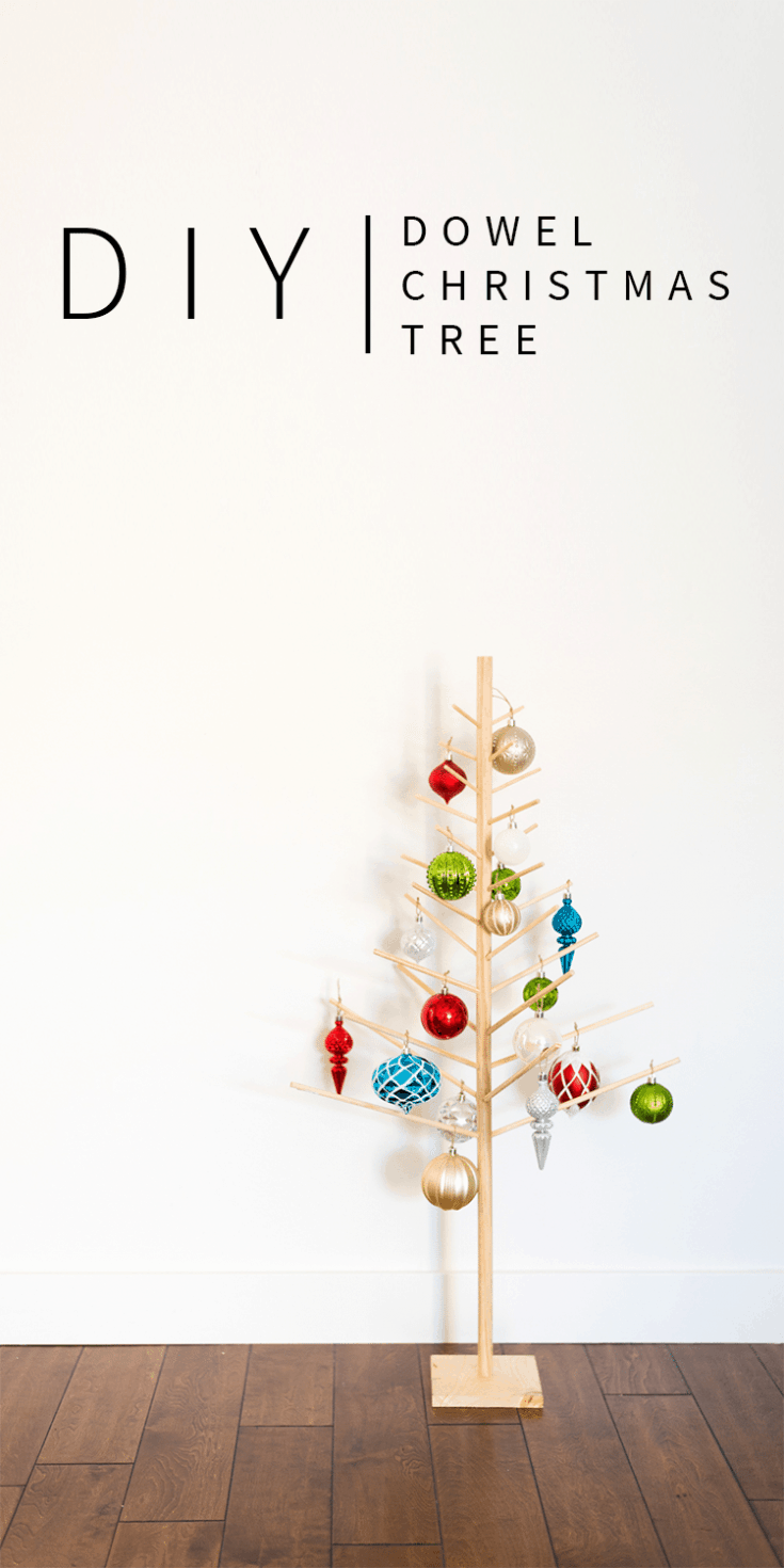 Modern DIY Christmas Tree (Wooden Dowels)