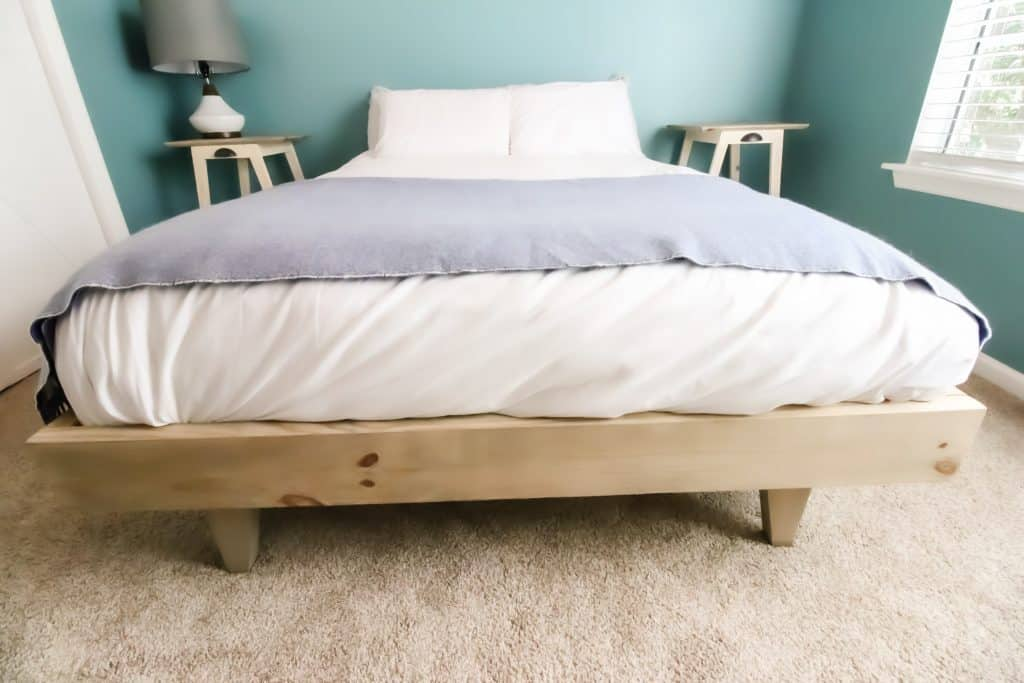 Platform bed from front