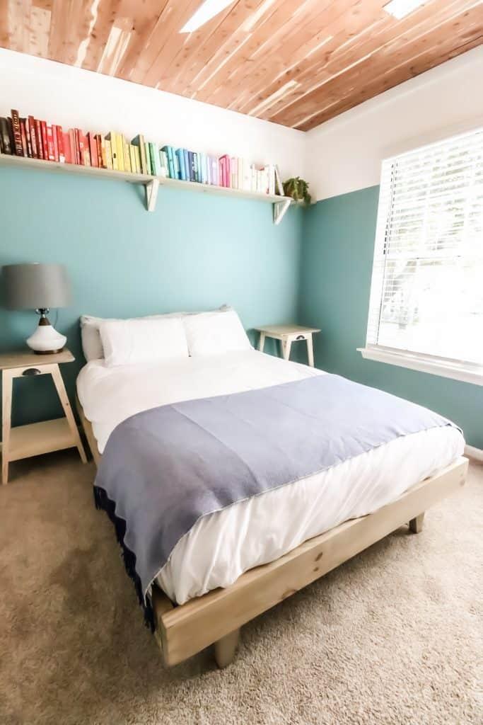Final shot of platform bed and guest room